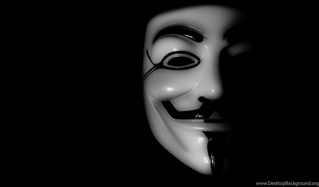 Anonymous Mask Wallpaper Desktop Background