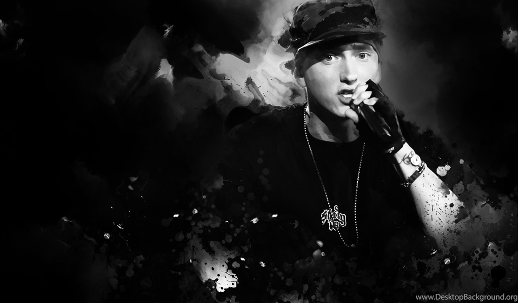 Eminem With Microphone Wallpapers And Images Wallpapers Desktop