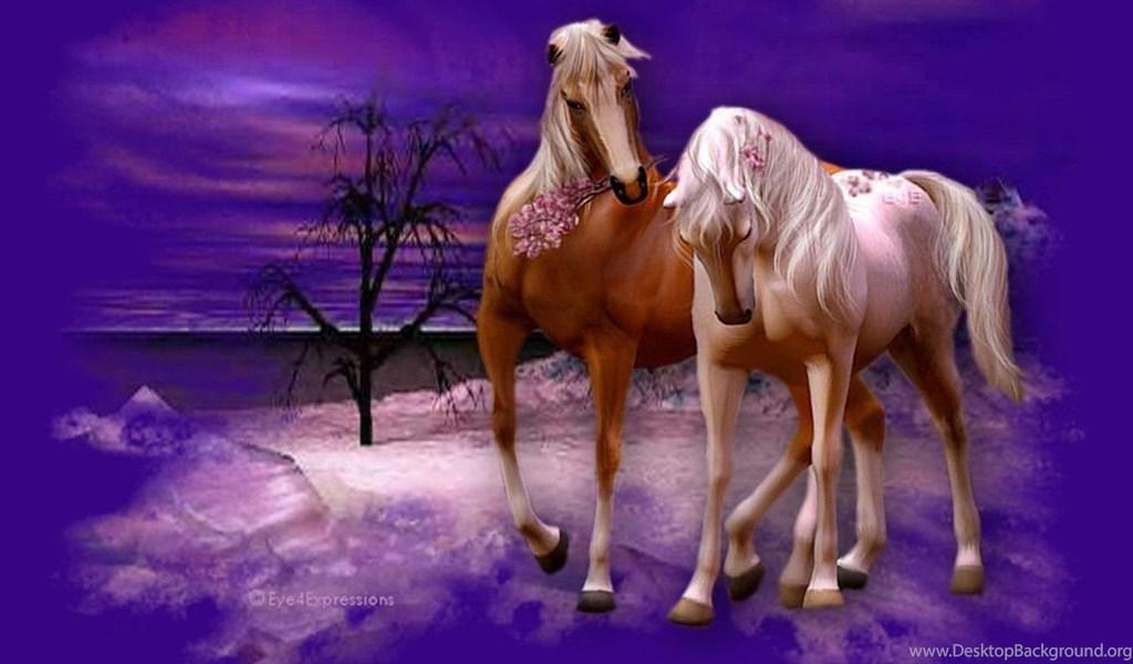 Pics Romantic Christmas Horses The Wallpapers Desktop Background