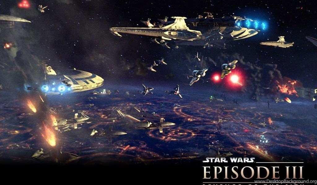 Revenge Of The Sith Ep Iii Battle Over Coruscant Star Wars Desktop Background