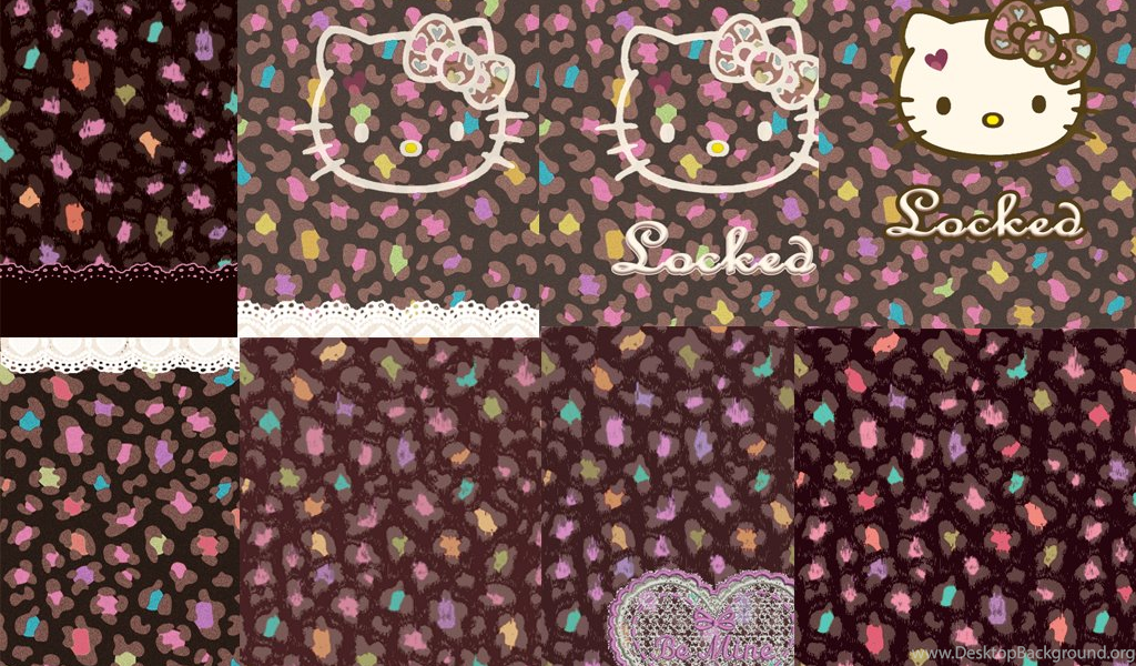 Love Pink Colorful Pastel Black Hello Kitty Wallpaper