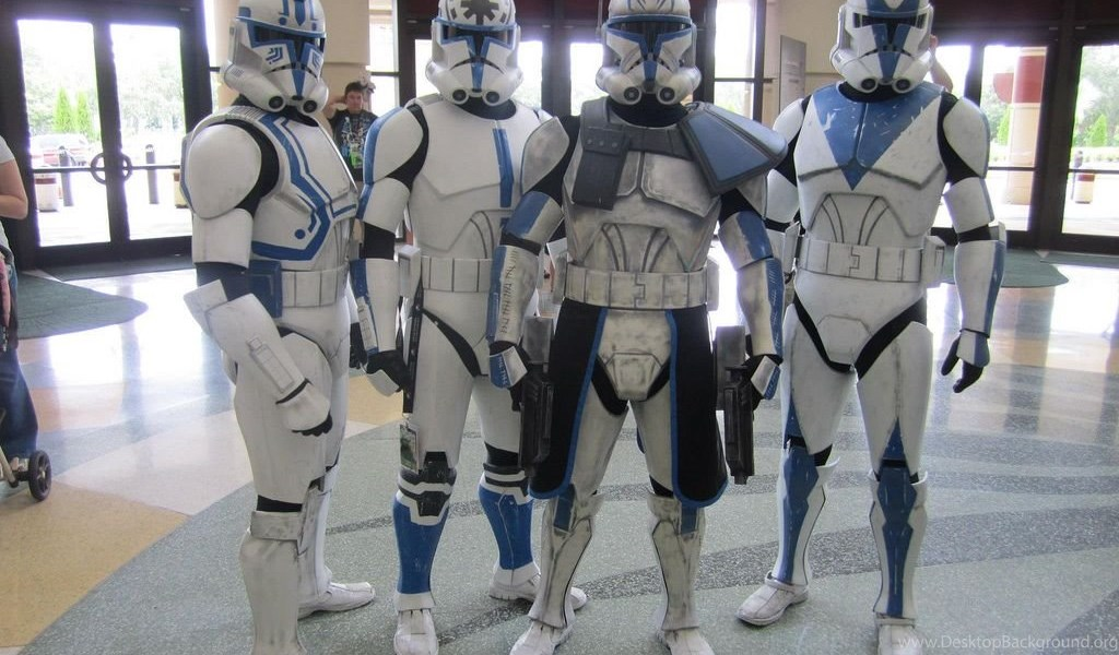 Phase 2 Captain Rex And The 501st Clones At Star Wars Celebration Desktop Background