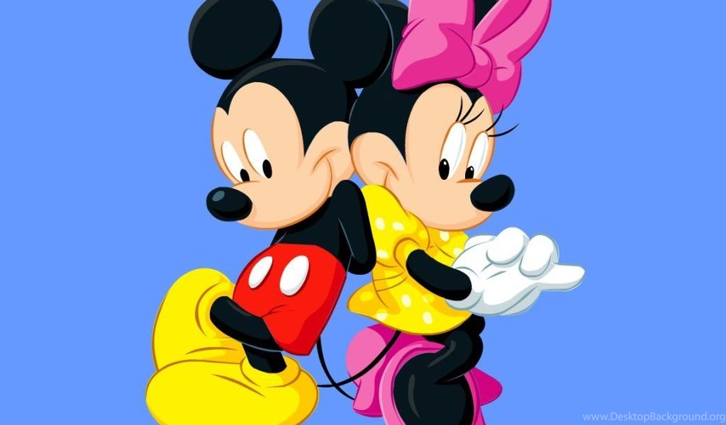 Mickey Mouse With Minnie Mouse Cartoon Hd Backgrounds Image For Desktop Background