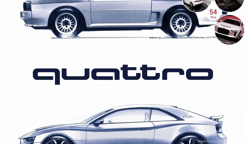 2010 Audi Quattro Concept Design Sketch Desktop Background