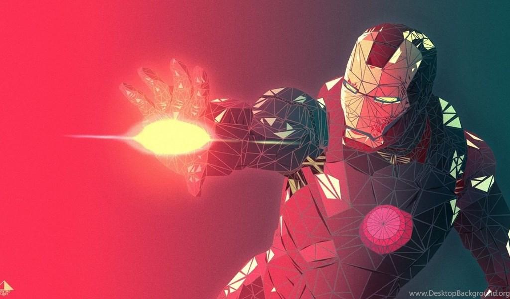 1366x768 Fractal Iron Man 3d Render Desktop Pc And Mac Wallpapers
