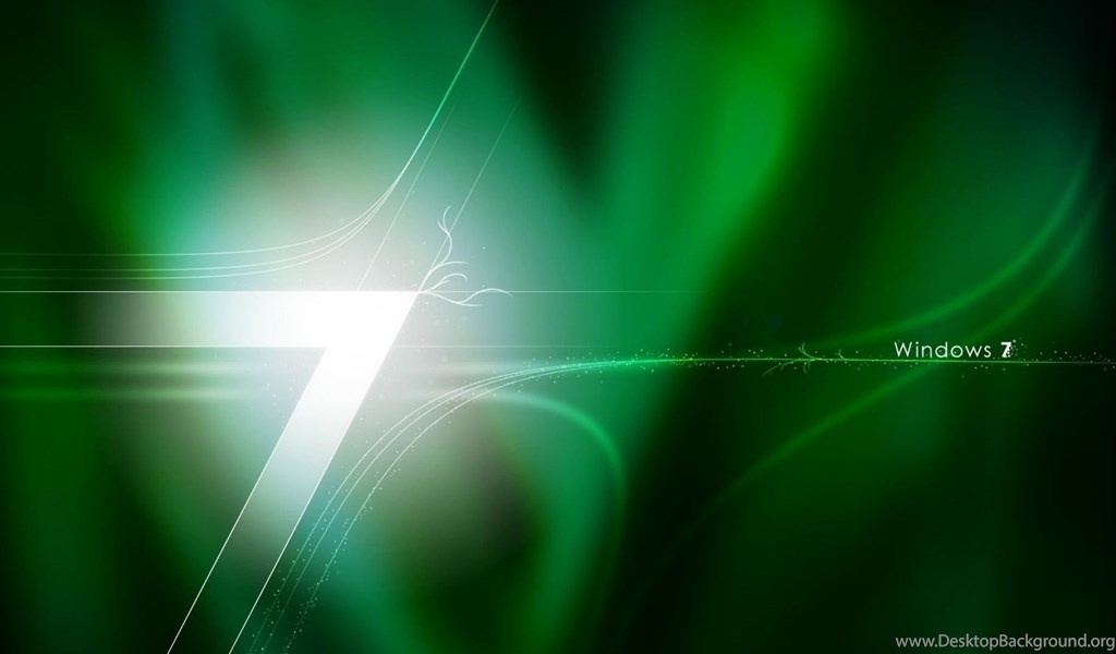 Download Wallpapers 1920x1080 Windows 7, Green, White, Os