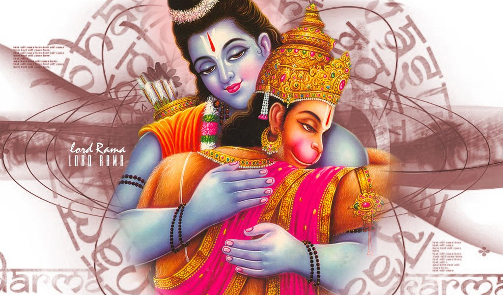High Quality Hanuman Wallpapers And Pictures Lord Rama Hugging