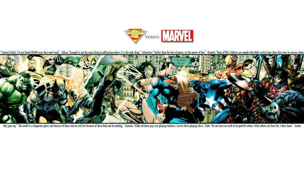 Superman Vs Marvel Heroes Wallpapers Desktop Background