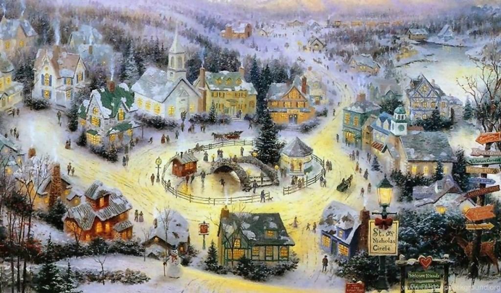 Thomas Kinkade Christmas Wallpapers Wallpapers Cave Desktop Background