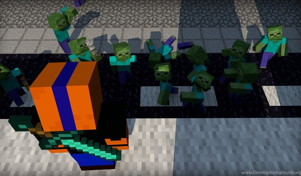 Games Streets Army Zombies Minecraft Backgrounds Pictures