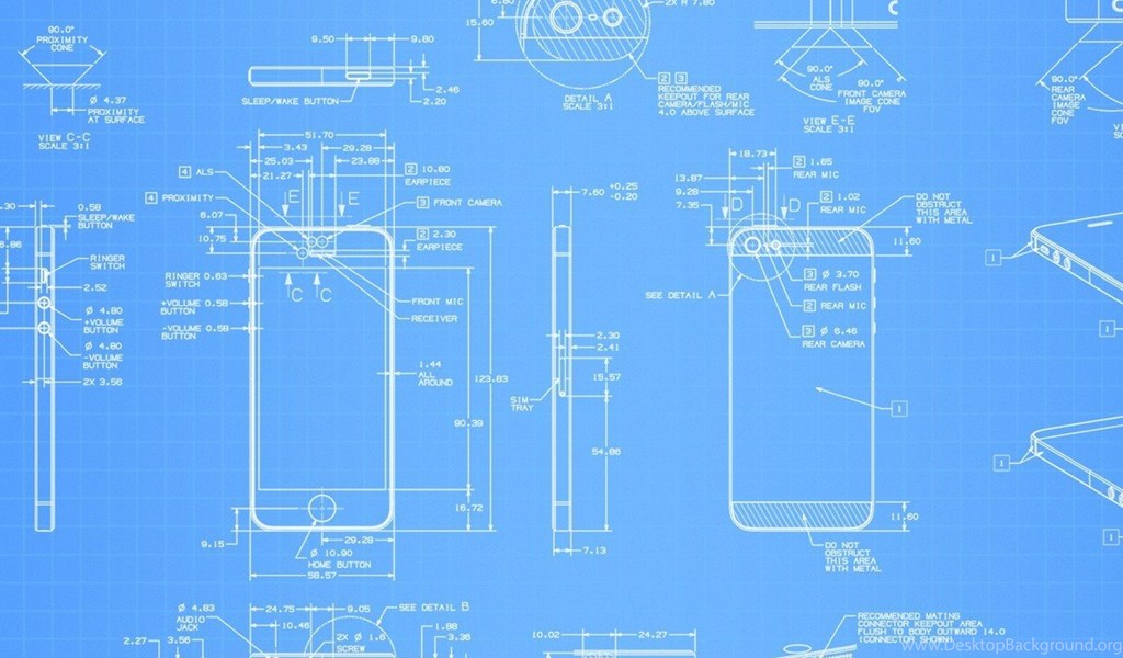 Download Apple iPhone 5 Blueprint Wallpapers For Samsung