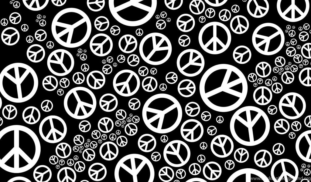 Black And White Peace Symbol Backgrounds 1 Desktop Background