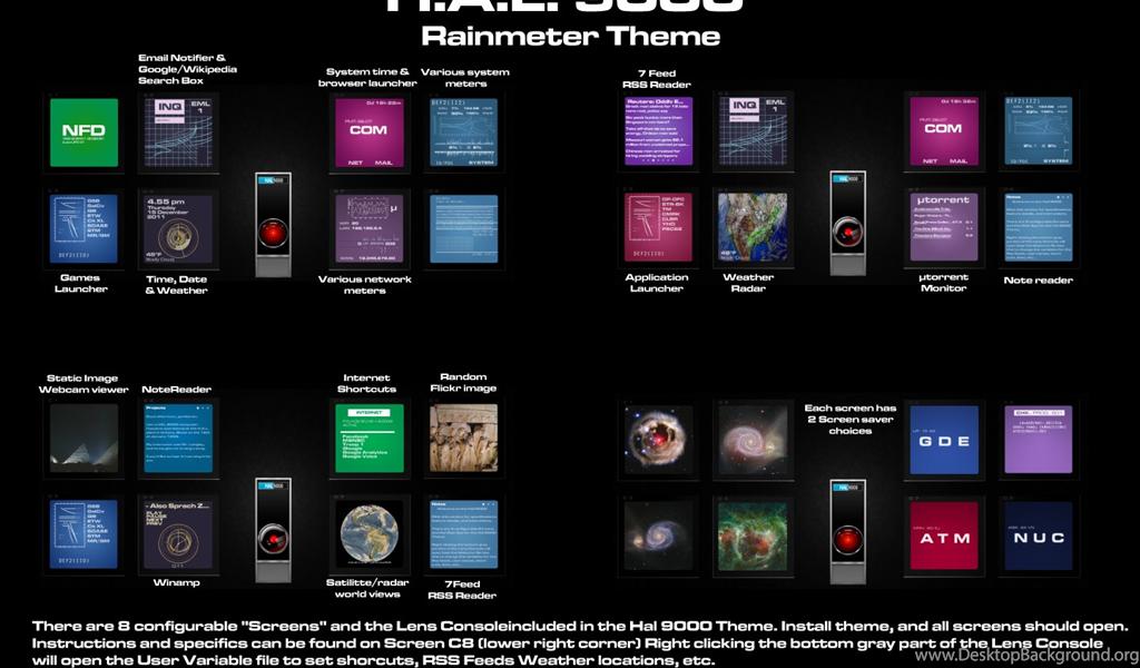 HAL 9000 Rainmeter Theme By Ts looney On DeviantArt Desktop