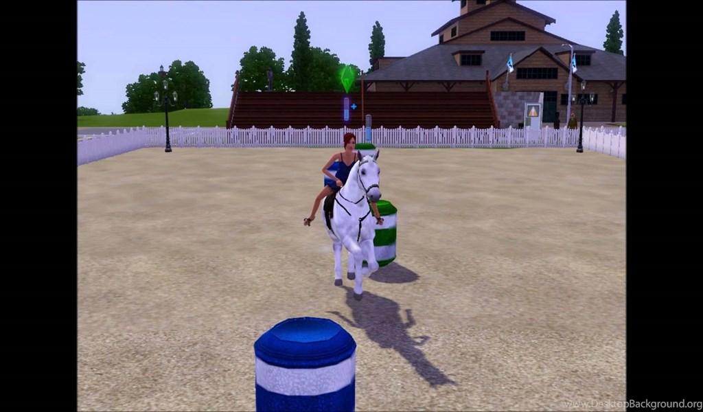 Sims 3: Horse Barrel Racing (bending) YouTube Desktop Background