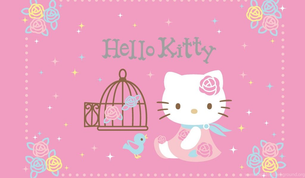 Hello kitty pink roses wallpapers cute wallpapers desktop background playstation 960x544 voltagebd Gallery