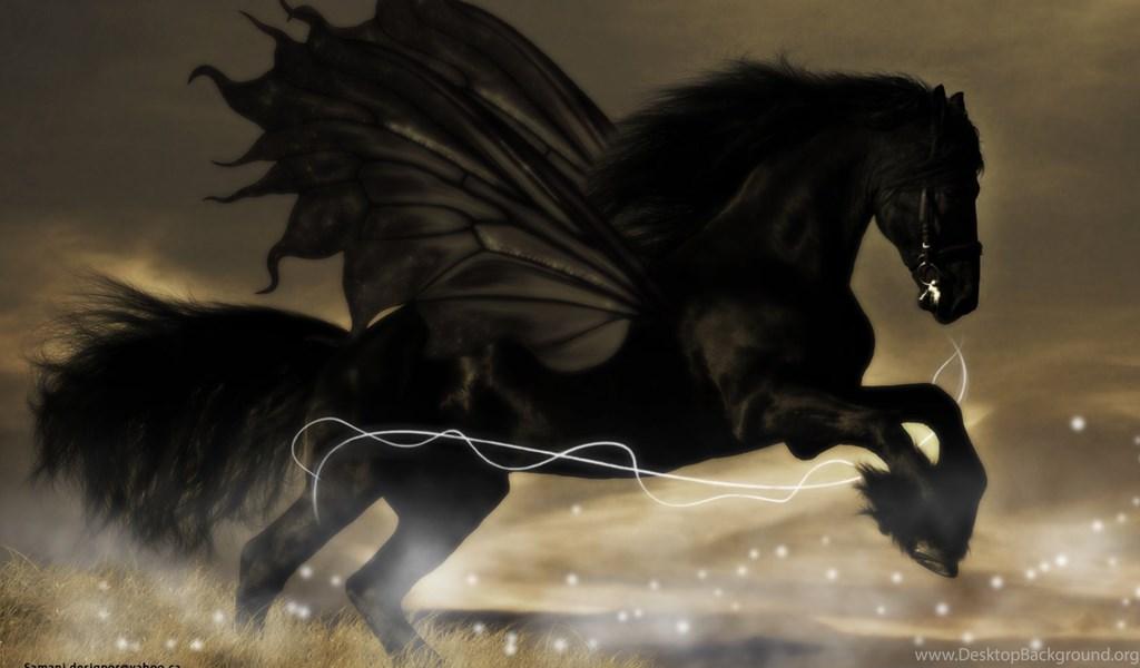 Hd Wide Wallpaper Black Horse In The Run The Black Knight Desktop Background