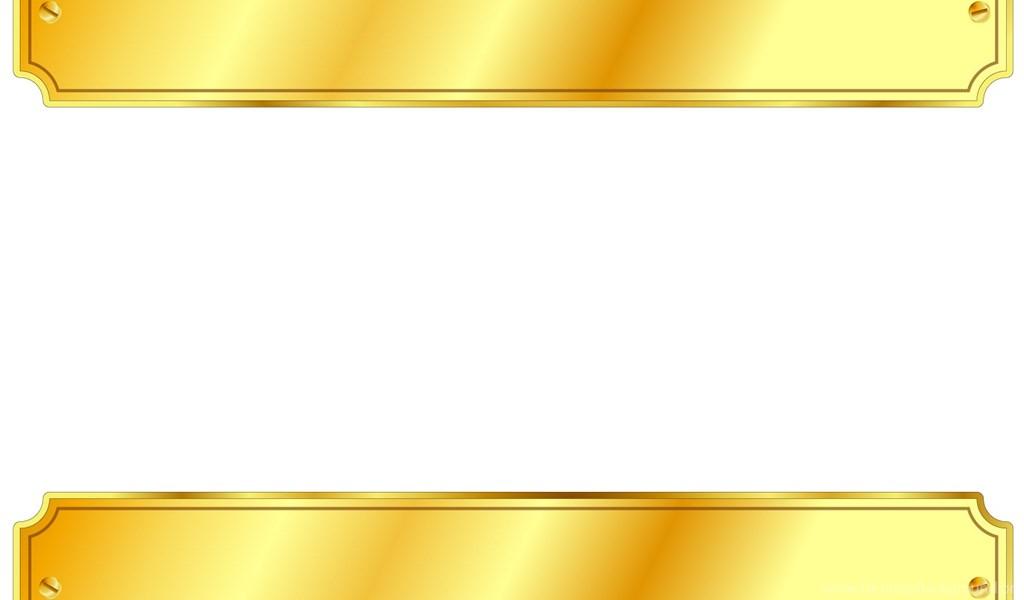 Gold Metal Sign Backgrounds 3D, Border & Frames, White