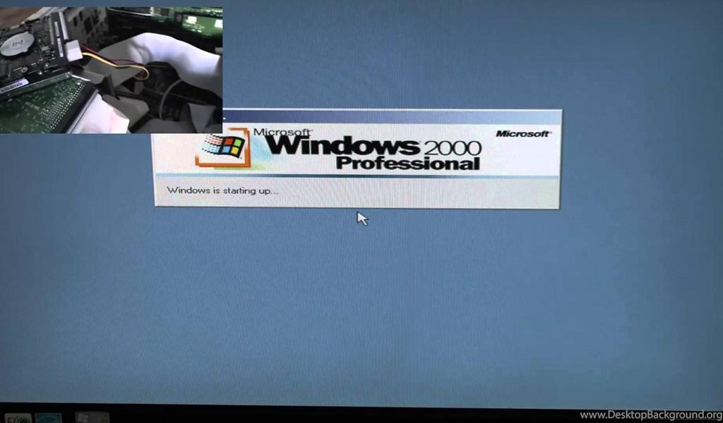 Intel 486 DX/2 66Mhz Running Windows 2000 Professional