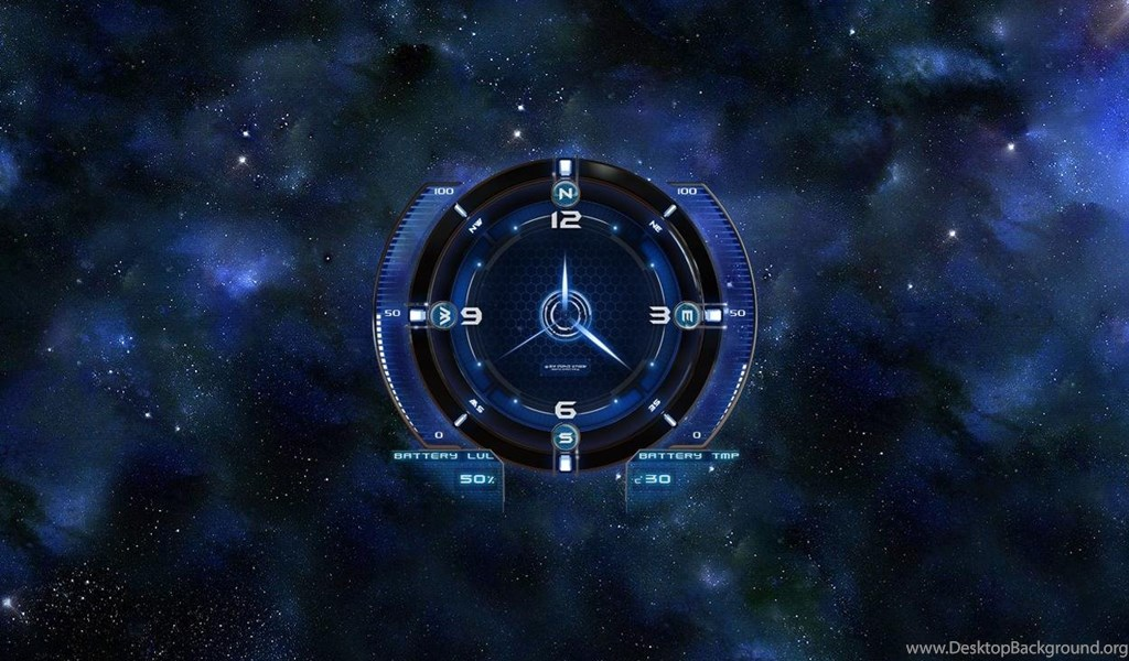 Space Clock Hd Live Wallpapers Android Apps On Google Play Desktop