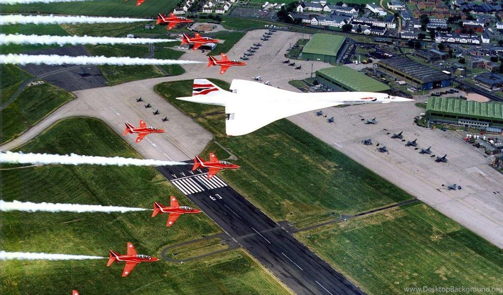 Download wallpapers red arrows with concorde 1024 x 768 desktop playstation 960x544 voltagebd Images