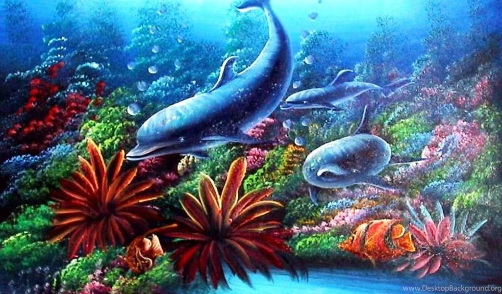 Animated aquarium wallpaper for mobile