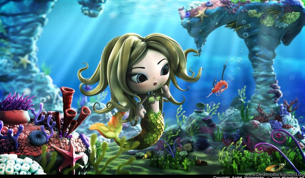 Mermaid Water Traps 3d Animation Hd Wallpapers Wallpapers Desktop