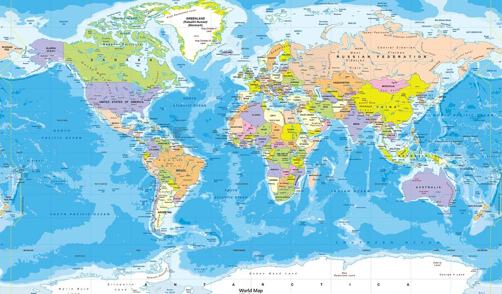 World political map wall mural miller projection desktop background playstation 960x544 gumiabroncs Gallery