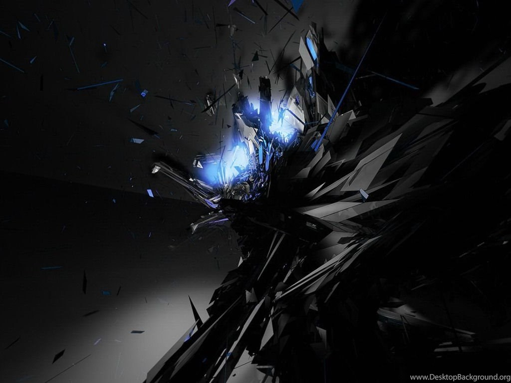 Black And Blue Abstract Wallpapers Desktop Background