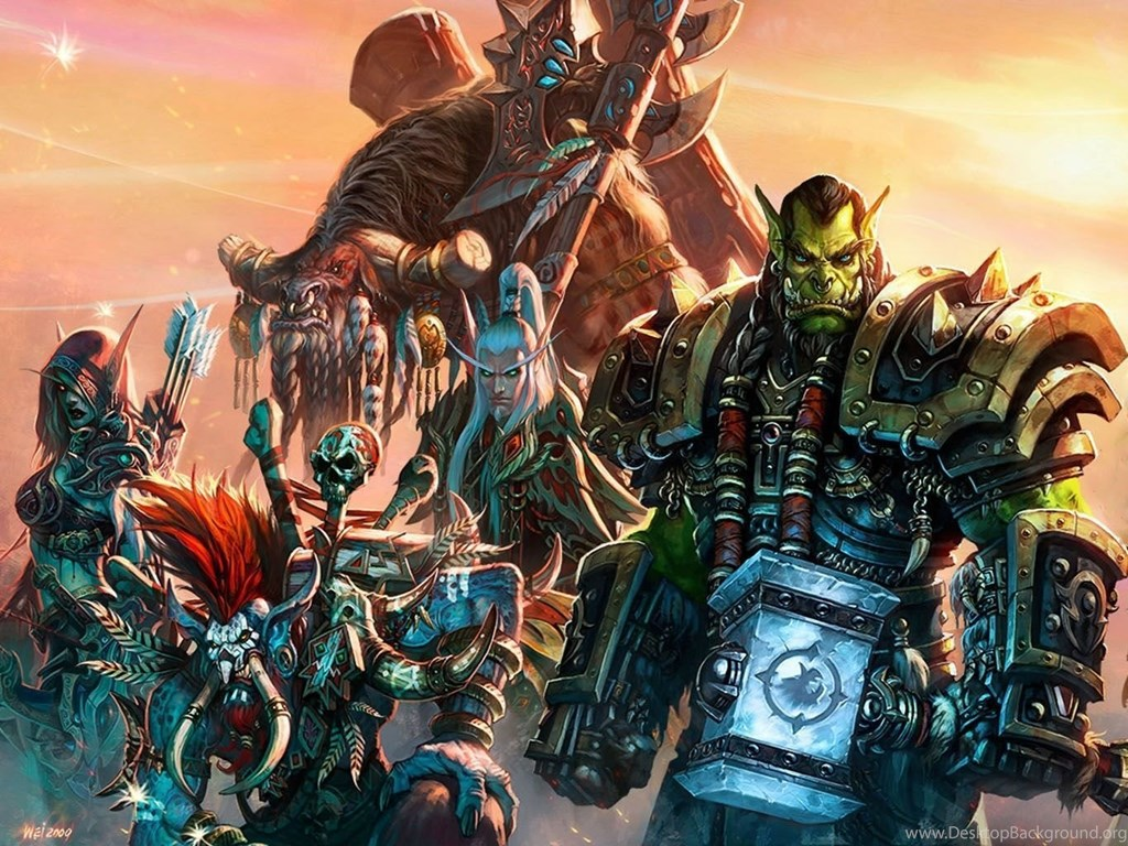 World Of Warcraft Horde Races Wallpaper Desktop Background