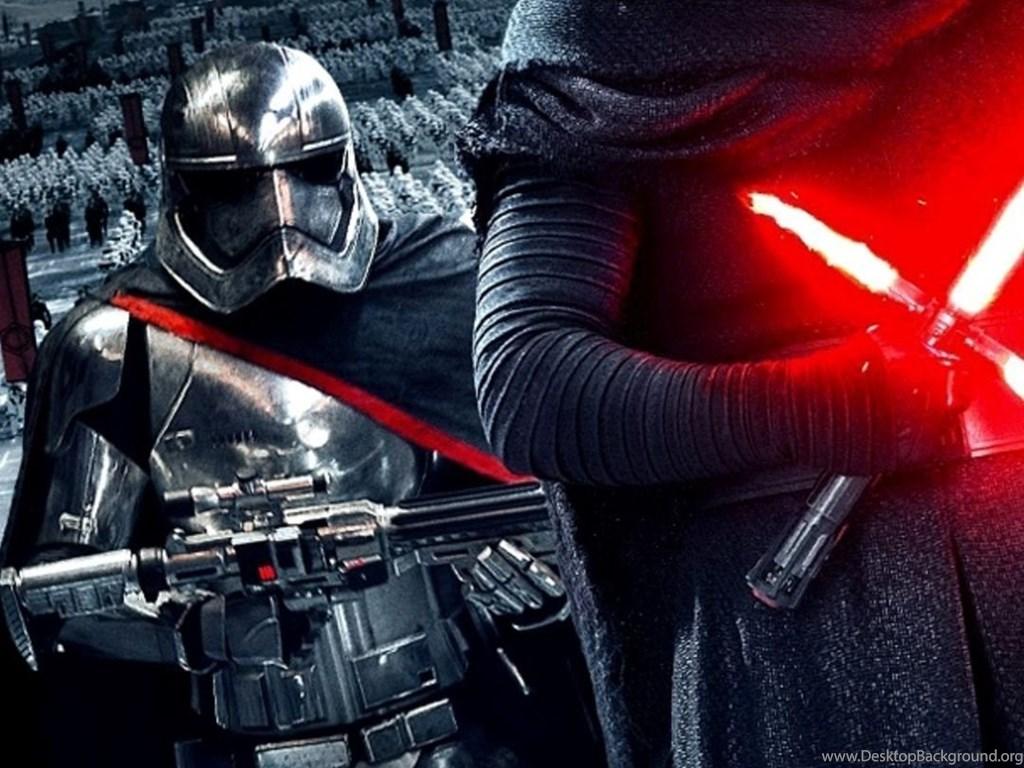 Star Wars The Force Awakens Wallpaper Kylo Ren Captain Phasma Jpg