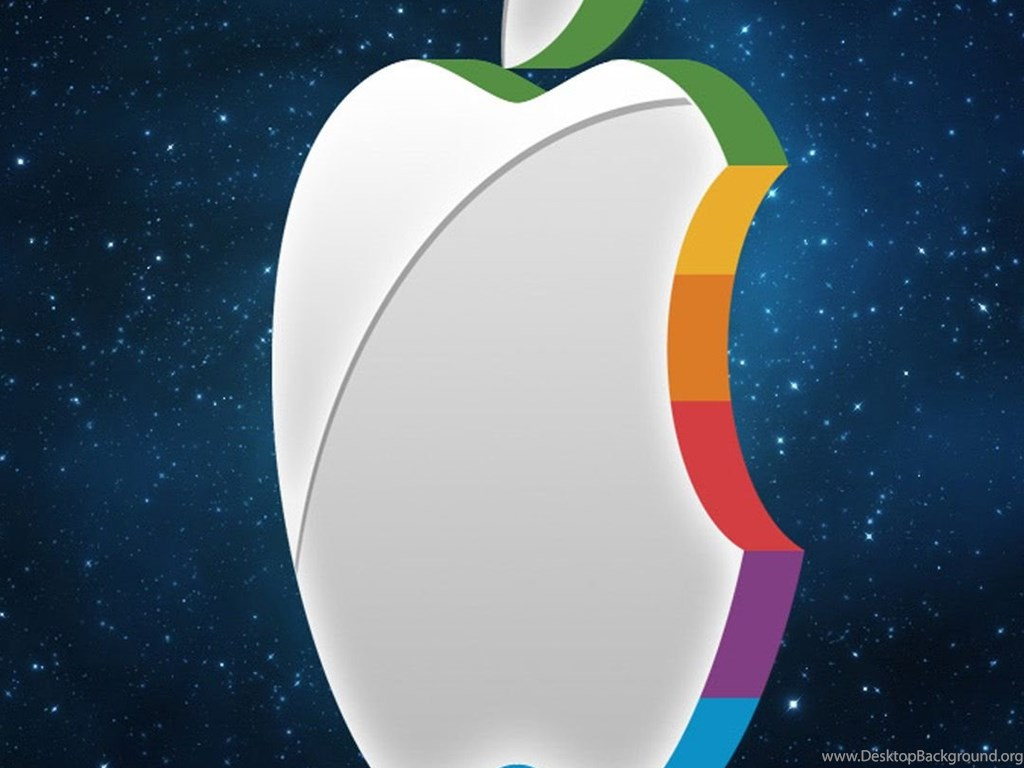 3d iphone wallpaper 1080x1920 3D Apple logo in the space