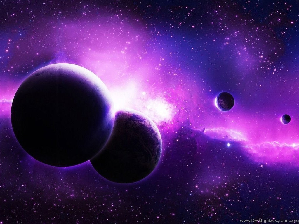 Planets In The Purple Galaxy Wallpapers Space Wallpapers Desktop