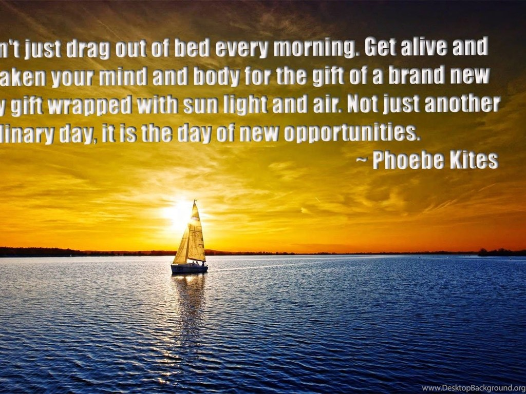 Gud Morning Inspirational Quotes Desktop Background