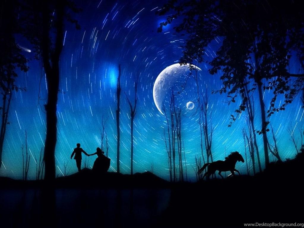 Romantic Moonlight Wallpaper Large 15 Desktop Background