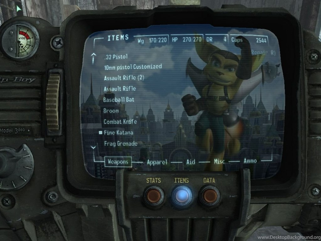 Ratchet And Clank Pip Boy Wallpapers At Fallout3 Nexus Mods