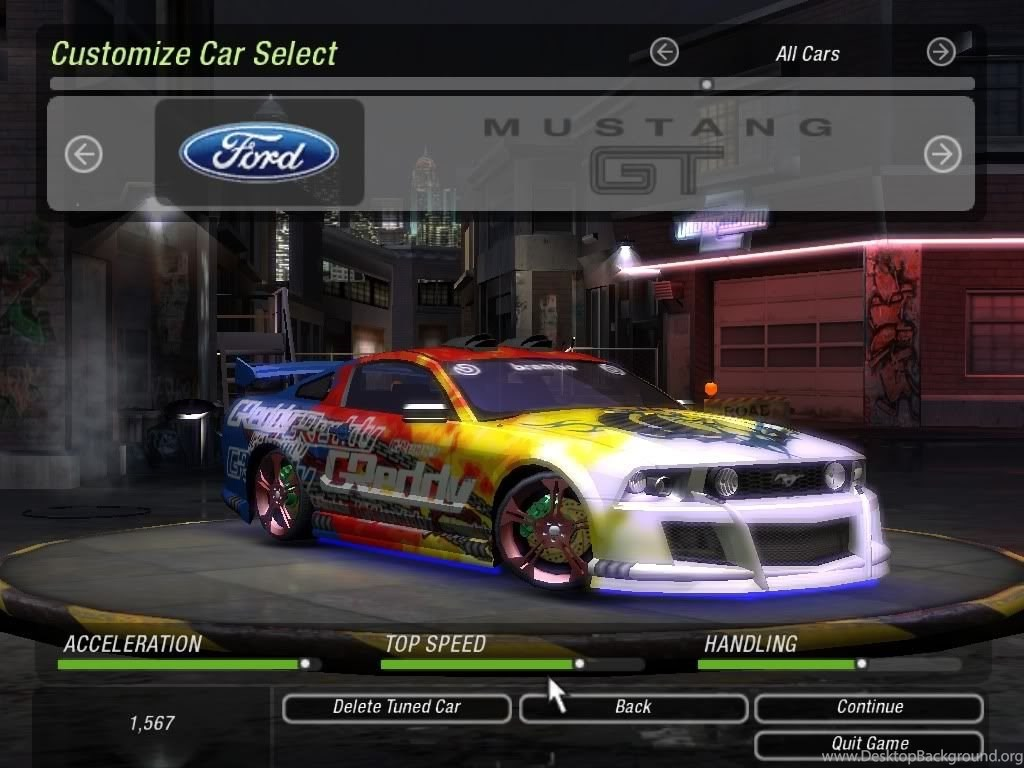 Click To See World Need For Speed Underground 2 Mustang Desktop