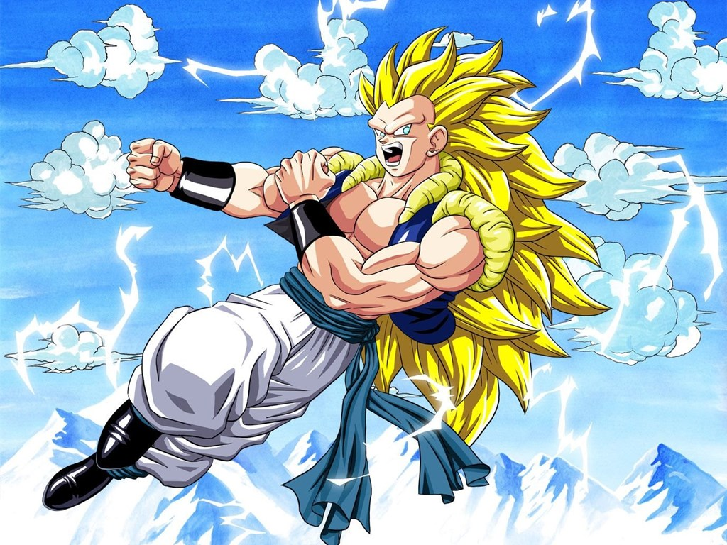 DRAGON BALL Z WALLPAPERS Gotenks Super Saiyan 3 Desktop Background