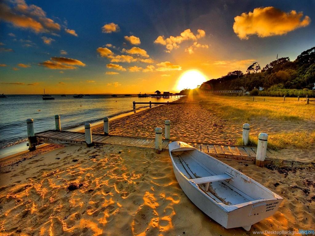 Sunset Beach Hd Wallpapers Widescreen Wallpapers Free Wallpapers