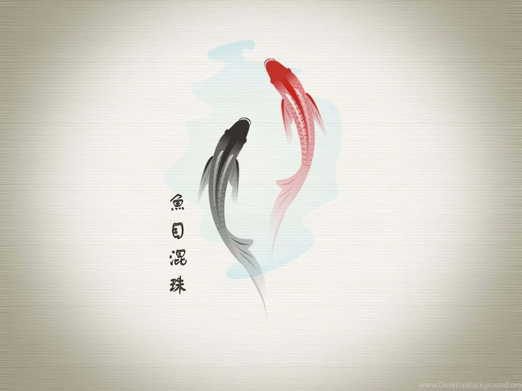 Wallpapers Koi Fish Financial Success Drawing Japanese Symbols Desktop Background