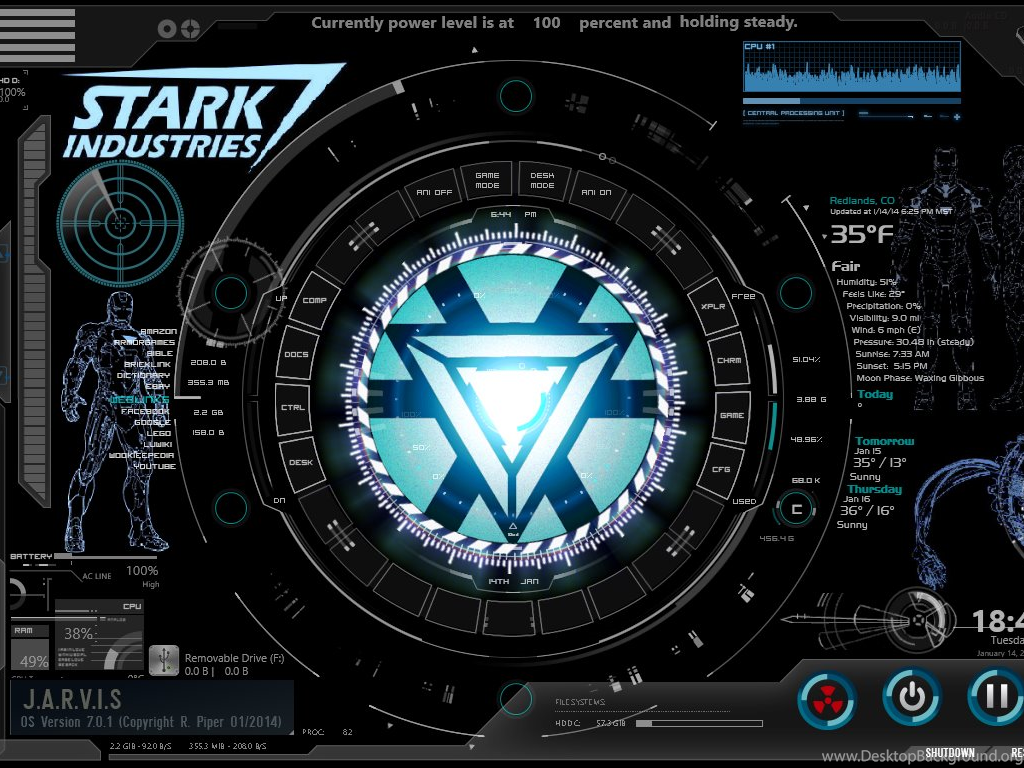 Make your computer like jarvis from the iron man movies desktop background - Iron man jarvis background ...
