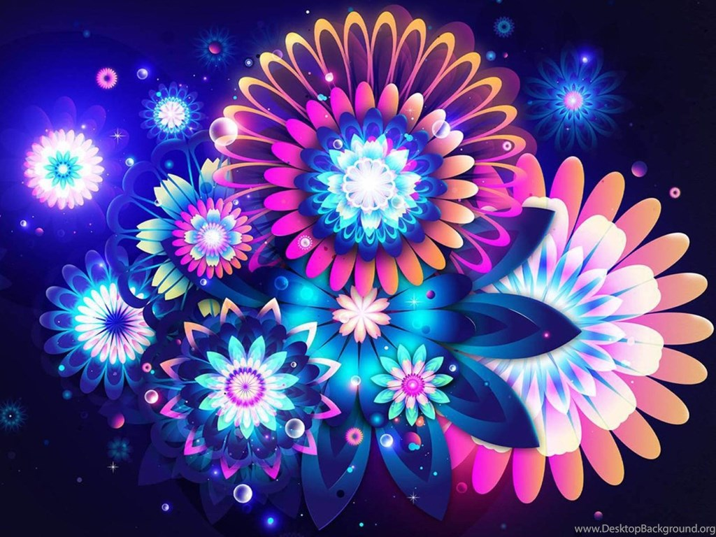 Colorful Abstract Flowers Wallpapers For Desktop And Mobile