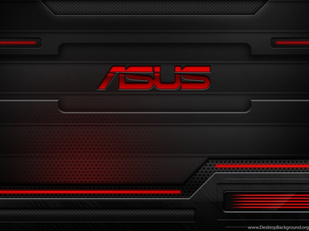 hd red and black asus technology wallpapers for desktop