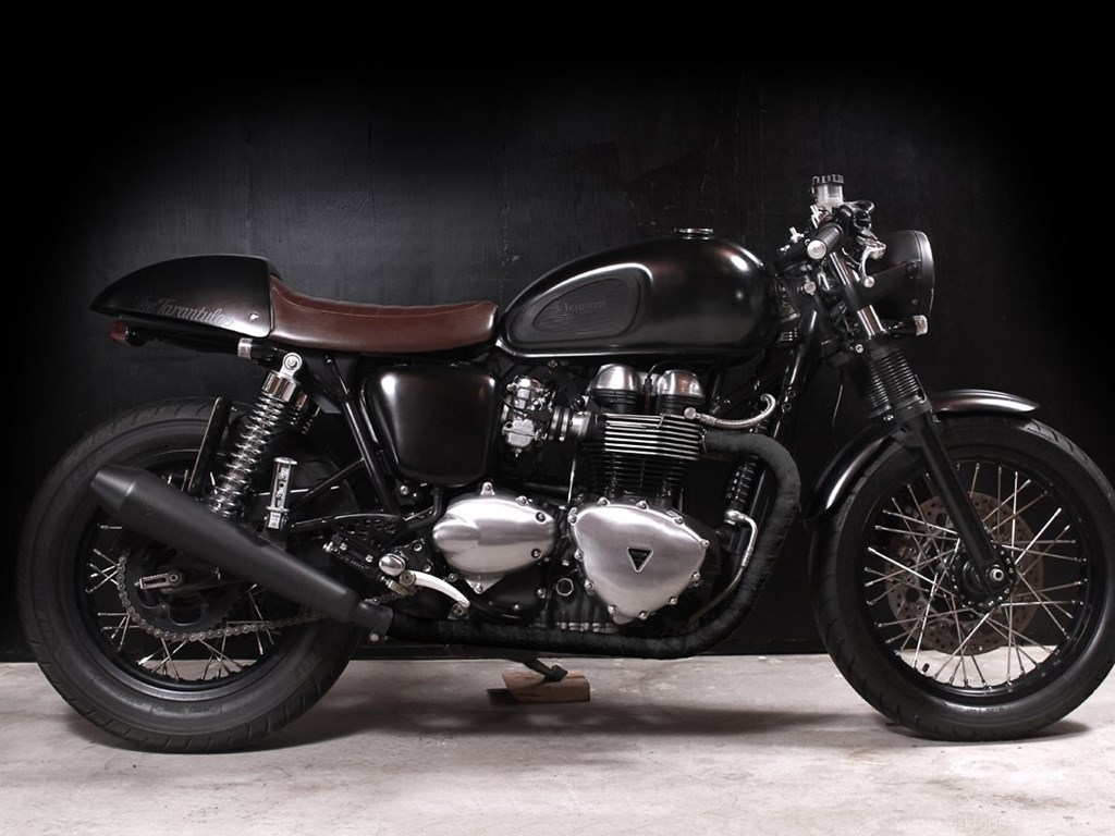 Triumph Bonneville T100 Cafe Racer Image Desktop Background
