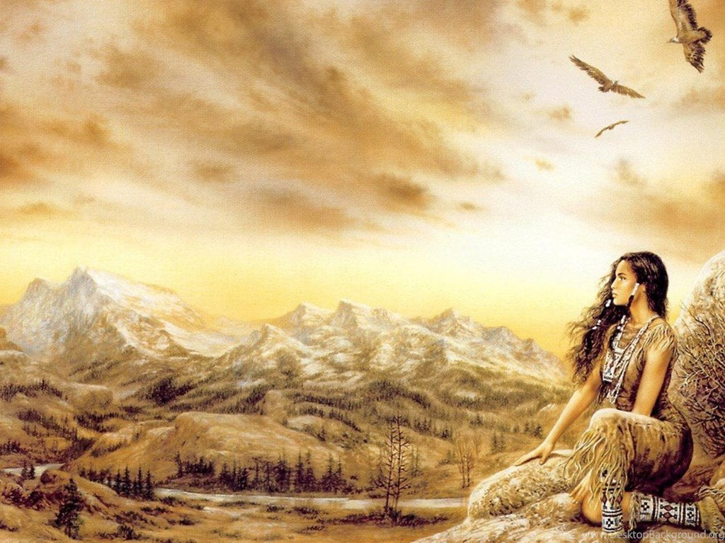American Hd Wallpaper Widescreen 1920x1080: Luis Royo Native American Girl Art Hd Wallpapers ( Desktop