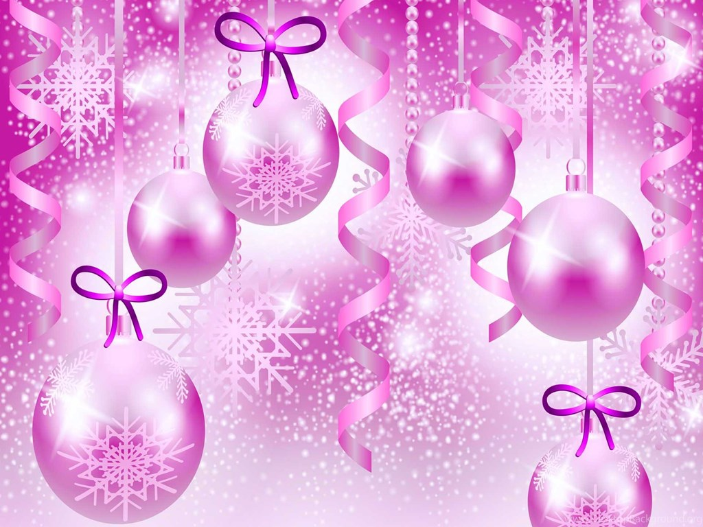 pink christmas wallpaper background