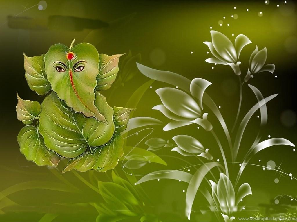 Green Pan Sepal In Shree Ganesha Ji Darsan Hd Wallpapers Desktop