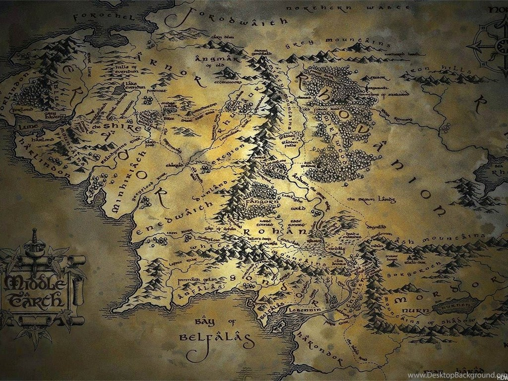 Map of middle earth wallpapers wallpapers cave desktop - Middle earth iphone wallpaper ...