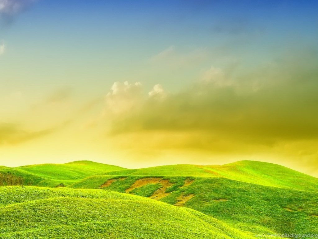 Green yellow nature wallpapers desktop background - Nature background pictures for computer ...