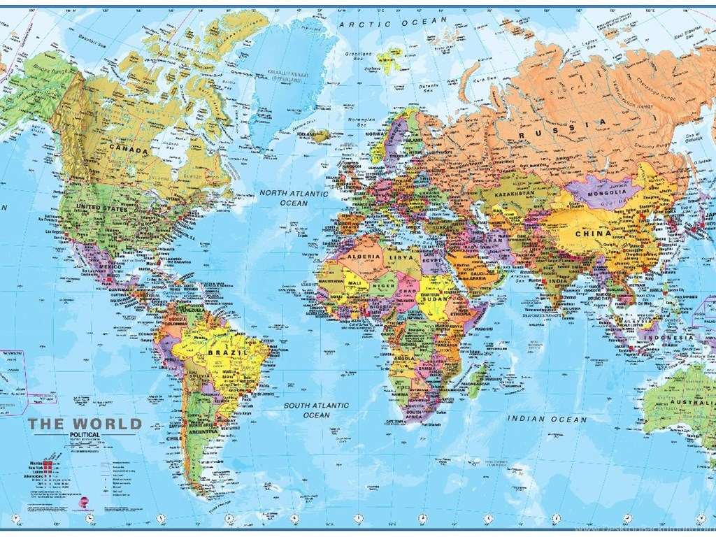 High Resolution World Map Colorful Wallpapers Full Size