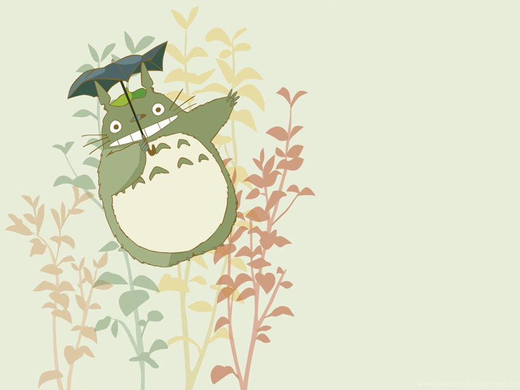 cartoon design totoro ppt backgrounds for powerpoint